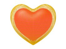 χρυσή καρδιά κλουβιών Στοκ Εικόνες
