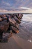 Χρυσή κατακόρυφος λιμενοβραχιόνων Στοκ εικόνες με δικαίωμα ελεύθερης χρήσης