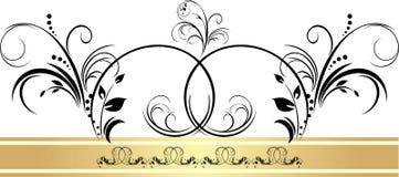 χρυσή κορδέλλα διακοσμή& Στοκ εικόνα με δικαίωμα ελεύθερης χρήσης
