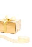 χρυσή κορδέλλα δώρων Στοκ Φωτογραφία