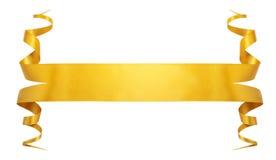 Χρυσή κορδέλλα κομψότητας Στοκ φωτογραφίες με δικαίωμα ελεύθερης χρήσης