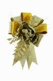 χρυσή κορδέλλα λουλουδιών Στοκ φωτογραφίες με δικαίωμα ελεύθερης χρήσης