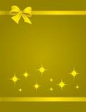 χρυσή κορδέλλα πακέτων Στοκ Εικόνες