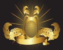 χρυσή κορδέλλα πλαισίων Στοκ φωτογραφία με δικαίωμα ελεύθερης χρήσης