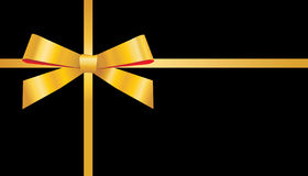 χρυσή κορδέλλα τόξων Στοκ Εικόνα