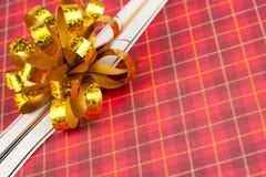 χρυσή κορδέλλα τόξων Στοκ εικόνα με δικαίωμα ελεύθερης χρήσης