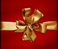 χρυσή κορδέλλα τόξων Στοκ Φωτογραφία
