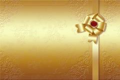 χρυσή κορδέλλα Στοκ φωτογραφίες με δικαίωμα ελεύθερης χρήσης
