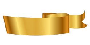 Χρυσή κορδέλλα απεικόνιση αποθεμάτων