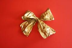 Χρυσή κορδέλλα στοκ εικόνες