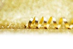 Χρυσή κορδέλλα Στοκ Φωτογραφίες