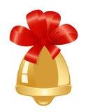 χρυσή κόκκινη κορδέλλα κ&omi Στοκ Εικόνα