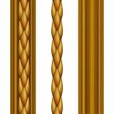 Χρυσή κλασσική μπαρόκ άνευ ραφής τέχνη συνδετήρων συνόρων, που απομονώνεται στο άσπρο υπόβαθρο απεικόνιση αποθεμάτων