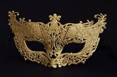 χρυσή μάσκα καρναβαλιού Στοκ Φωτογραφίες