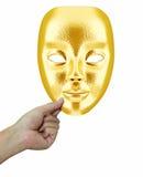 Χρυσή μάσκα υπό εξέταση Στοκ Εικόνες