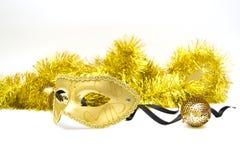 Χρυσή μάσκα Στοκ Φωτογραφίες
