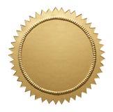 Χρυσή μεταλλική σφραγίδα Στοκ Εικόνες