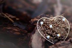 χρυσή μορφή καρδιών Στοκ Εικόνες