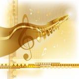 χρυσή μουσική ανασκόπηση&sig ελεύθερη απεικόνιση δικαιώματος