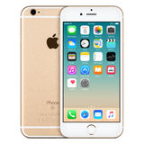 Χρυσή μπροστινή άποψη iPhone της Apple 6s με iOS 9 στην οθόνη Στοκ φωτογραφία με δικαίωμα ελεύθερης χρήσης