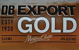Χρυσή μπύρα εξαγωγής DB Στοκ φωτογραφίες με δικαίωμα ελεύθερης χρήσης