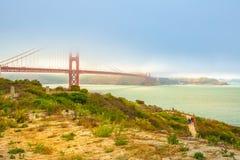 Χρυσή νότια ακτή γεφυρών πυλών στοκ εικόνα