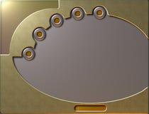 χρυσή οθόνη διανυσματική απεικόνιση