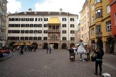 χρυσή οδός στεγών μουσεί&om Στοκ Εικόνες