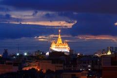 Χρυσή παγόδα του ναού Wat Saket Στοκ Εικόνες