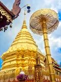 Χρυσή παγόδα wat Phra που Doi Suthep Στοκ Φωτογραφίες