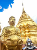 Χρυσή παγόδα wat Phra που Doi Suthep Στοκ φωτογραφίες με δικαίωμα ελεύθερης χρήσης