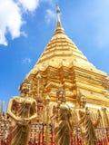 Χρυσή παγόδα wat Phra που Doi Suthep Στοκ φωτογραφία με δικαίωμα ελεύθερης χρήσης