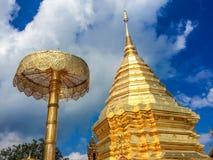 Χρυσή παγόδα wat Phra που Doi Suthep Στοκ Εικόνα