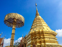 Χρυσή παγόδα wat Phra που Doi Suthep Στοκ εικόνα με δικαίωμα ελεύθερης χρήσης