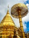 Χρυσή παγόδα wat Phra που Doi Suthep Στοκ Εικόνες