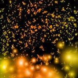 Χρυσή πεταλούδα, υπόβαθρο Στοκ Εικόνες