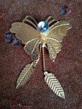 Χρυσή πεταλούδα στοκ εικόνες με δικαίωμα ελεύθερης χρήσης