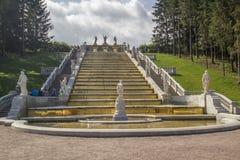 Χρυσή πηγή καταρρακτών Peterhof Στοκ φωτογραφίες με δικαίωμα ελεύθερης χρήσης