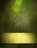 χρυσή πράσινη κορδέλλα ανασκόπησης Στοκ Φωτογραφίες