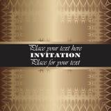 χρυσή πρόσκληση Στοκ Εικόνες