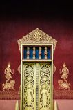 Χρυσή πρόσοψη πυλών Vatsensookharam, Luang Prabang, Λάος Στοκ εικόνα με δικαίωμα ελεύθερης χρήσης
