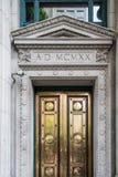 Χρυσή πόρτα από το 1920 Στοκ Φωτογραφία