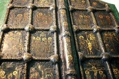Χρυσή πύλη στον καθεδρικό ναό του Nativity στο Σούζνταλ Ρωσία Στοκ εικόνες με δικαίωμα ελεύθερης χρήσης