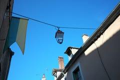 Χρυσή πύλη Burgundy, χωριό Chablis στην περιοχή Bourgogne, διάσημο για το άσπρο κρασί στοκ φωτογραφία