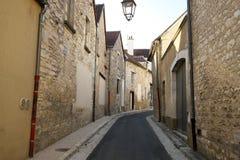 Χρυσή πύλη Burgundy, χωριό Chablis στην περιοχή Bourgogne, διάσημο για το άσπρο κρασί στοκ εικόνα με δικαίωμα ελεύθερης χρήσης