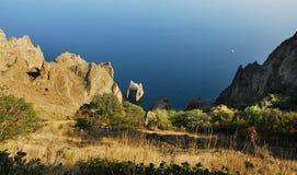 Χρυσή πύλη βράχου, Κριμαία, Ρωσία Στοκ φωτογραφίες με δικαίωμα ελεύθερης χρήσης