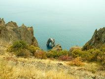 Χρυσή πύλη βράχου Kara-Dag Στοκ Εικόνες