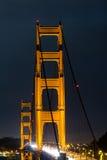 Χρυσή πύλη νύχτας στοκ εικόνες