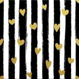 Χρυσή ριγωτή ταπετσαρία Gllitter Υπόβαθρο κτυπημάτων βουρτσών χρωμάτων Στοκ φωτογραφίες με δικαίωμα ελεύθερης χρήσης
