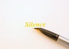 χρυσή σιωπή Στοκ εικόνες με δικαίωμα ελεύθερης χρήσης